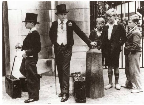 The great class divide in Great Britain before World War Two.