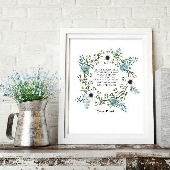Charming Gardeners Wreath Printable | Marcel Proust Quote