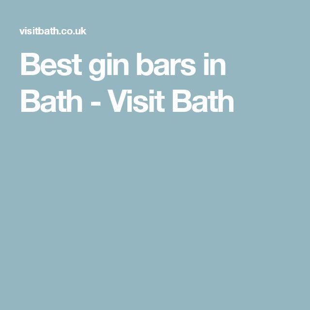 Best gin bars in Bath - Visit Bath