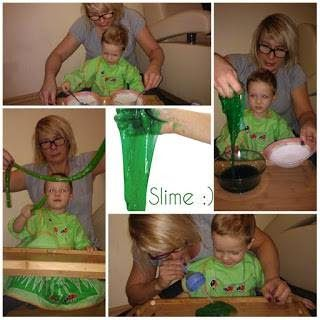 kreatywnyMaks: St Patricks Day Slime Recipe Holiday Sensory Play