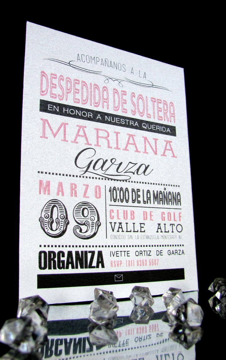Invitación despedida de soltera Bridal shower invitation