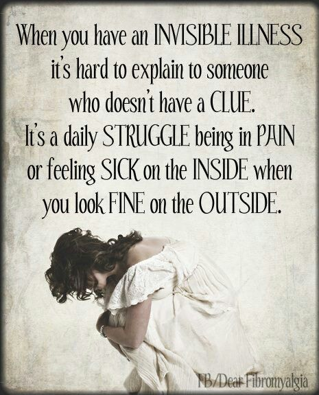 Invisible Illness - it's so hard to explain to others. #Fibromyalgia #autoimmune #LichenPlanus #Sjogrens