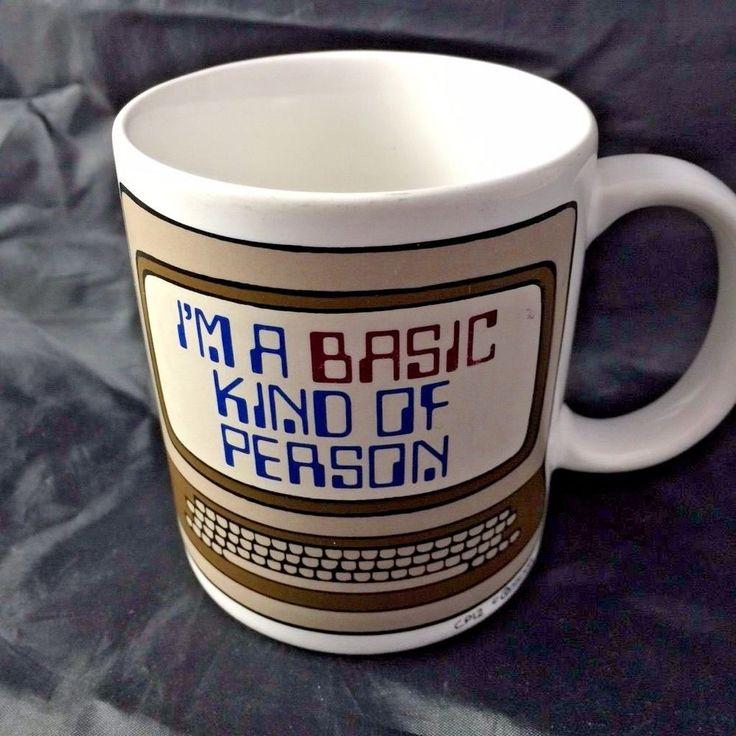 RETRO 1980's BASIC COMPUTER PROGRAMMING LANGUAGE APPLE COFFEE MUG #unknown
