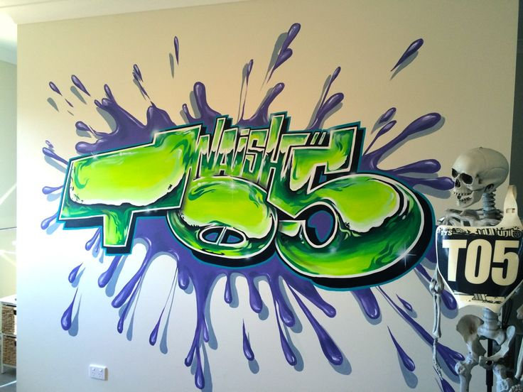 Customise your bedroom and say something about yourself.  #aerosolart #mural #bedroom #interiordesign