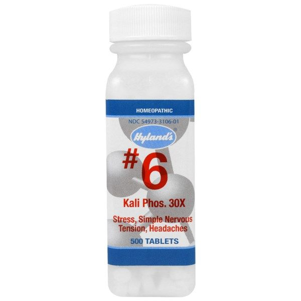 Hyland's, #6 Kali Pho. 32x, 500 tablets #stress #formula #support #balance #management #iherb #thingstobuy #shopping #relief