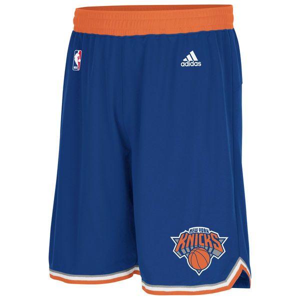 adidas New York Knicks Royal Blue Swingman Shorts - $64.99