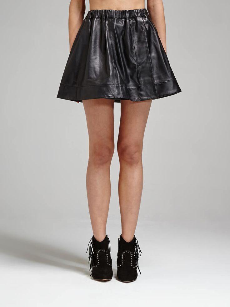 IRO - Alba Leather Mini Skirt