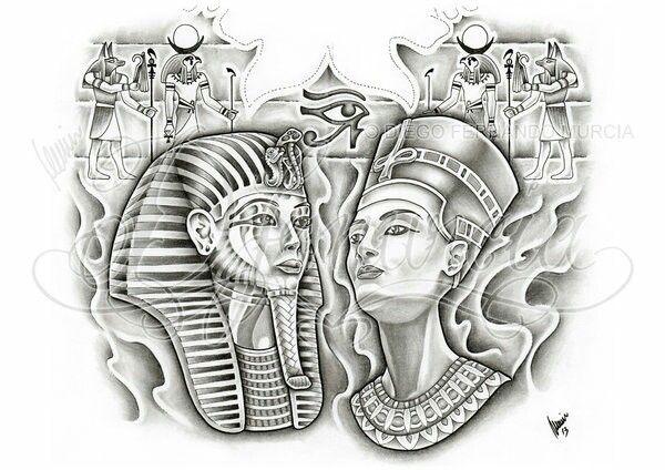 egyptian pharoah tattoo design