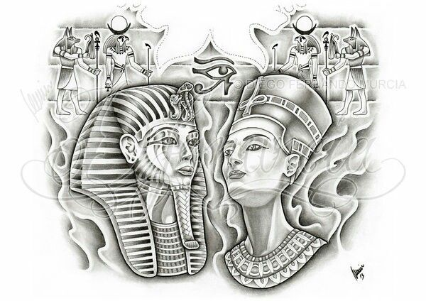 egyptian pharoah tattoo design