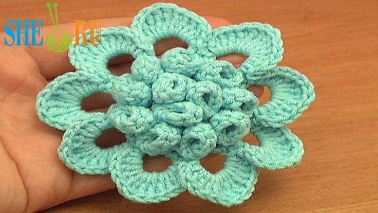 Crochet Flower Tutorial Sheru : 10 Best images about Crochet Flower Tutorials on Pinterest ...