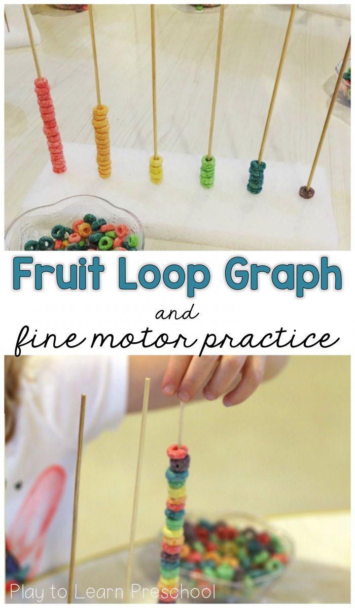 Fruit Loop Graph and Fine Motor Practice