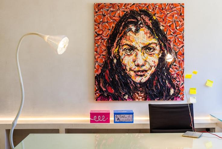 real estate office  terra nova .Pipe floor lamp by artemide