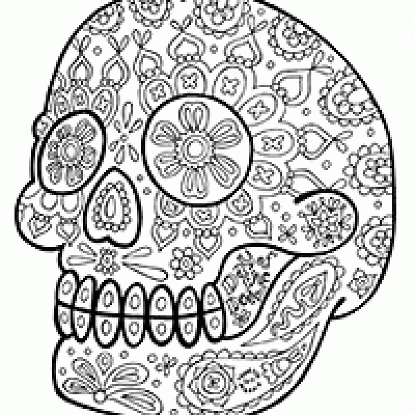 Coloring Pages For Adults Skull : 26 best color images on pinterest