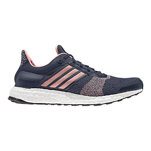 adidas Women\u0027s Ultra Boost ST Running Shoes - Knit Navy Blue/Pink