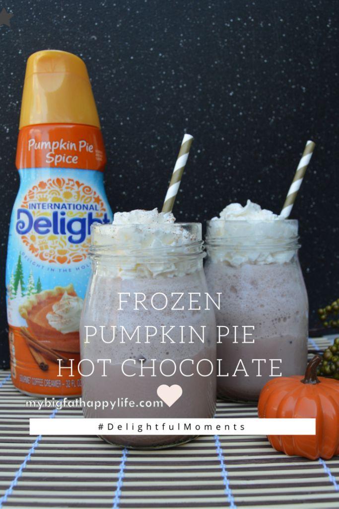 Frozen Pumpkin Pie Hot Chocolate #DelightfulMoments (ad) @Walmart - My Big Fat Happy Life
