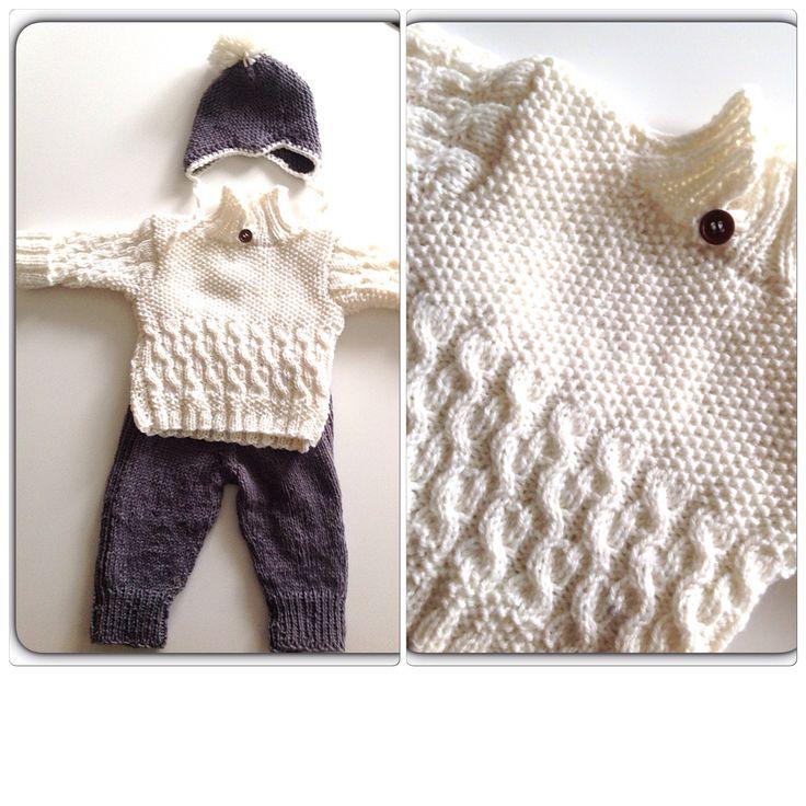 Stickat till en tremånaders baby! Made by me!