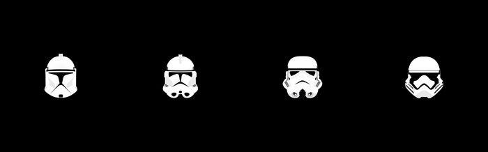 Multiple Display Star Wars Minimalism Helmet Clone Trooper