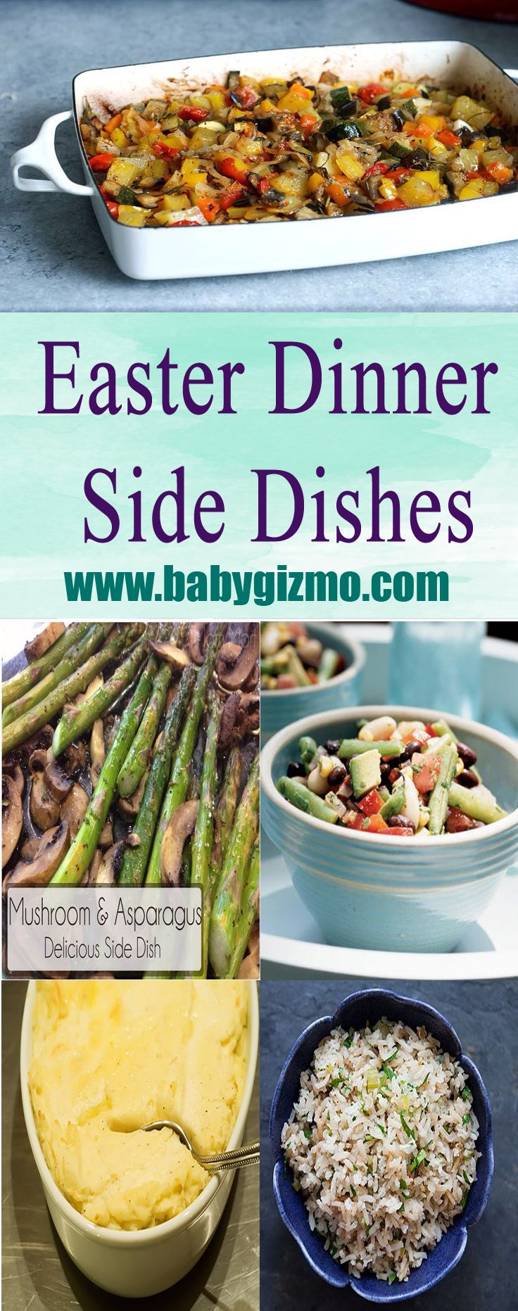 Easter dinner side dishes that are sure to be a hit with everyone at the table! #EasterDinner #BabyGizmo