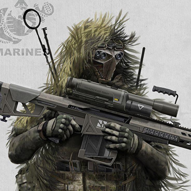 Sniper by Alex Jessup on ArtStation.