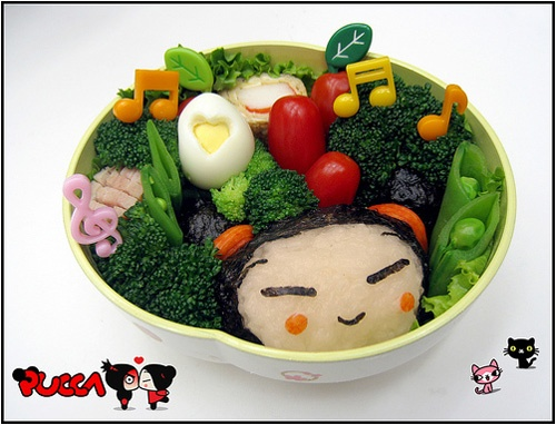 Cute PuccaBento Lunches, Bento Boxes, Lunches Boxes, Kawaii Bento, Edible Art, Boxes Lunches, Bento Kyaraben, Pucca Bento, Food Art