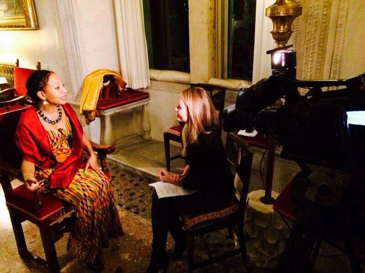 #RaiExpo intervista Samia Nkrumah, moglie del Primo Ministro del Ghana Kwame Nkrumah. #expomilano2015 #womeninexpo #rai