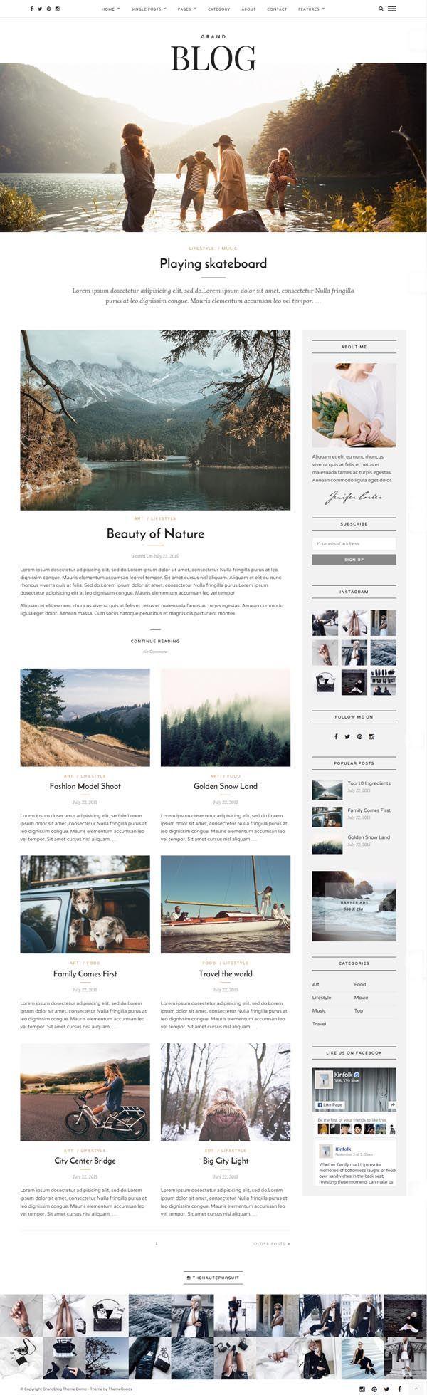 Grand Blog - Responsive Blog Theme #responsivedesign #html5 #wordpressthemes…