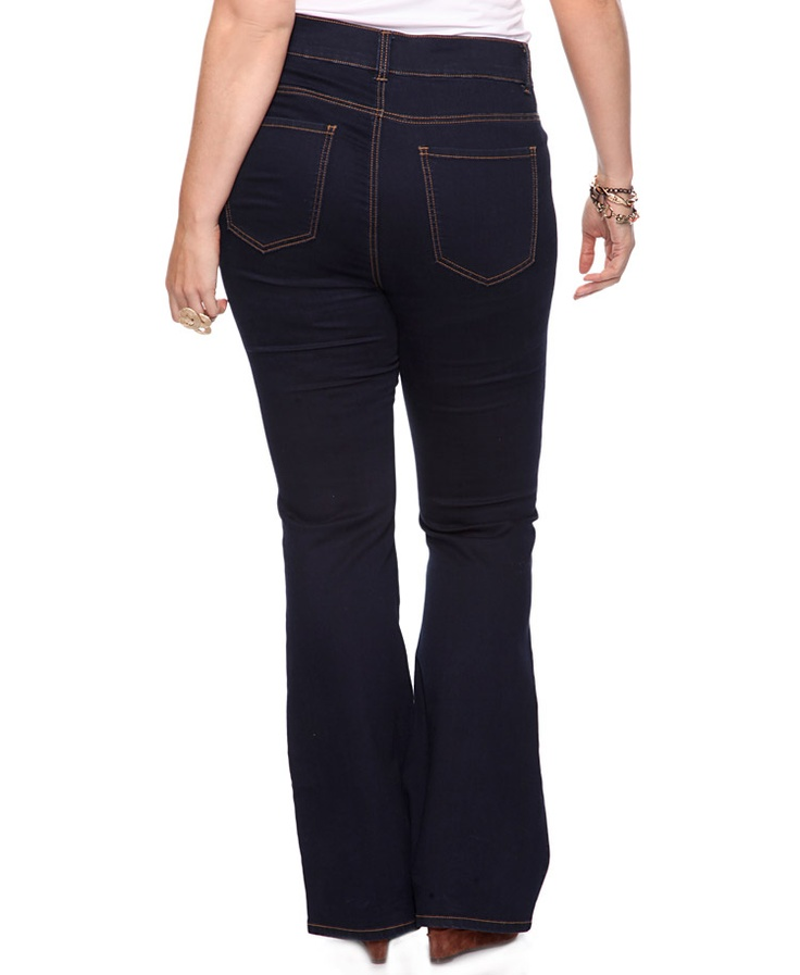 high waisted flare jeans plus size - Jean Yu Beauty