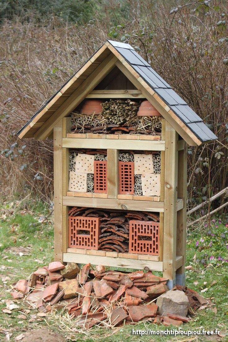 17 meilleures id es propos de hotel a insecte sur - Cabane a insectes ...