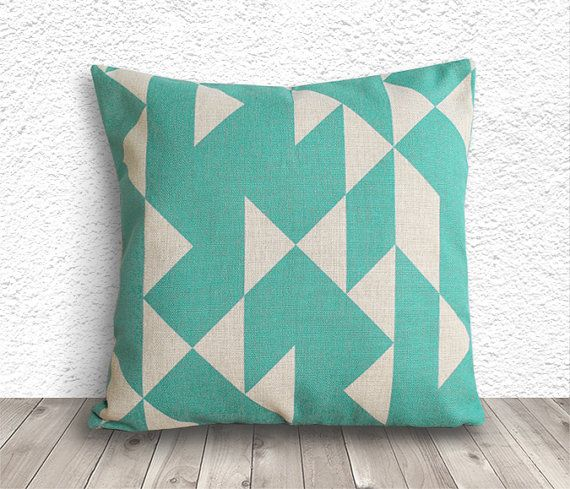 Geometric Pillow Cover Pillow Cover Turquoise by 5CHomeDecor, $14.99