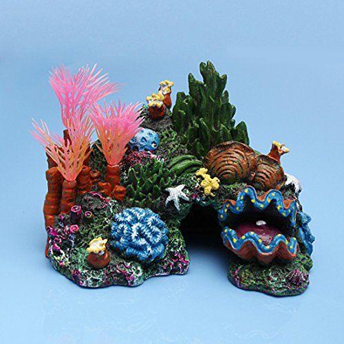 NEED:  Corner Biz Aquarium Decorations Resin Rock Cave Conch Shells Aquatic Plants Ornament For Fish Tank