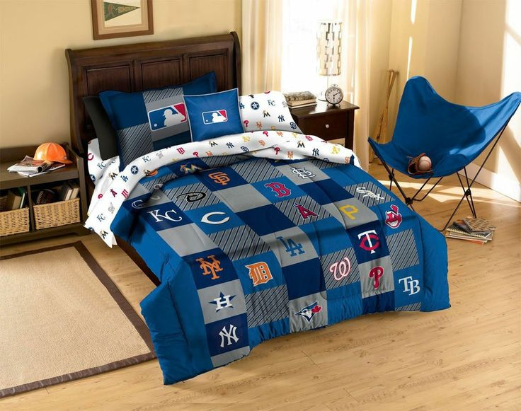 Mlb Teams Twin Bed Quilt Comforter Sham Set Baseball Fan