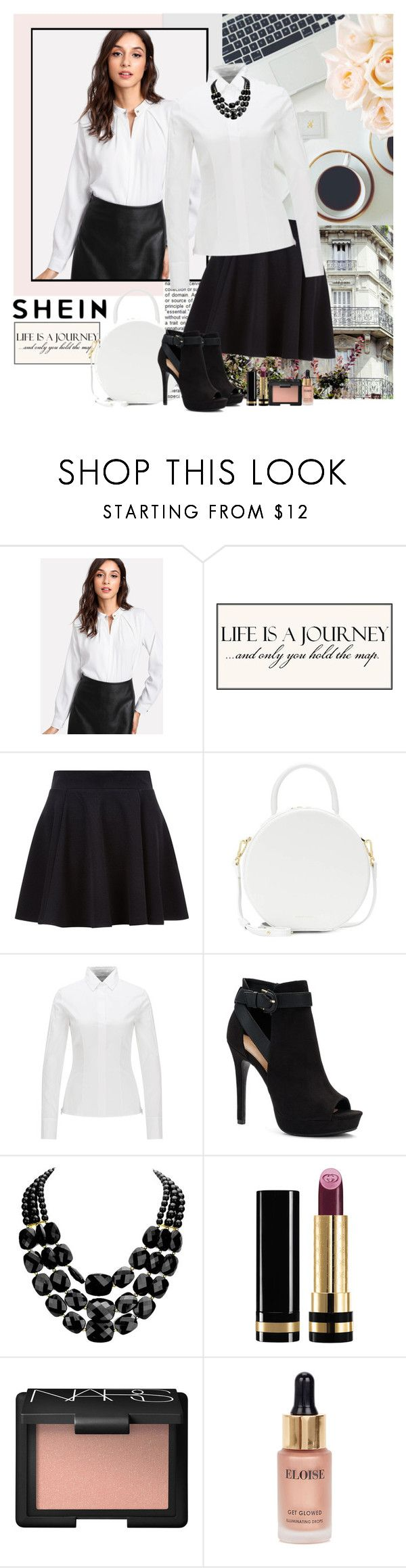 """SHEIN DENIM"" by polybaby ❤ liked on Polyvore featuring Mansur Gavriel, Apt. 9, Gucci and Eloise"