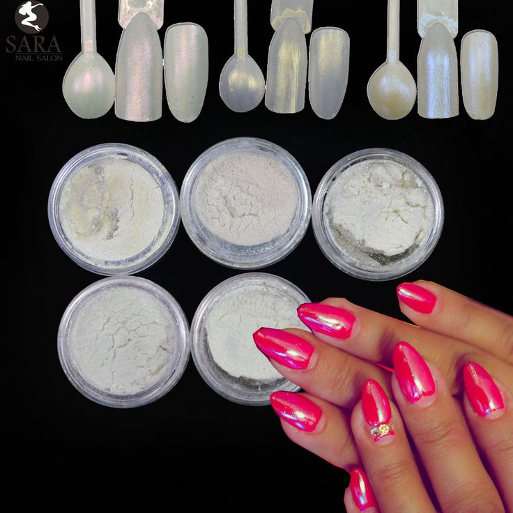 5Bottle Shiny Laser Mermaid Effect Glitter Nail Art Powder Dust Magic Glitter Nail Art Decoration Tips with 5pcs Brushes ND262x5