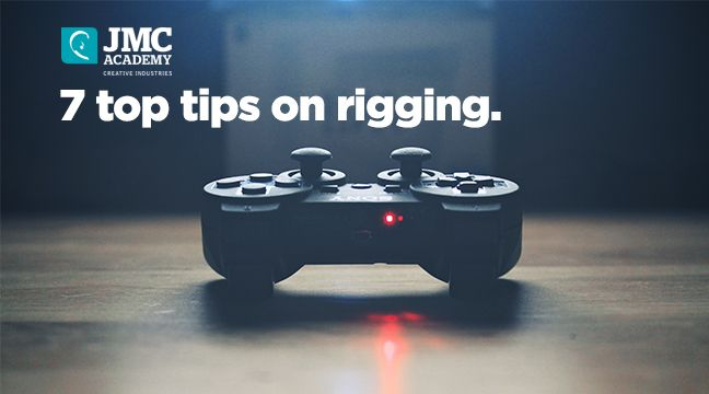 7 Tips on Rigging for Animation and Game Development. http://www.jmcacademy.edu.au/news/7-tips-on-rigging