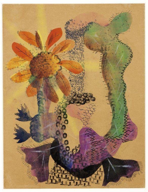 H.N. Werkman (1882-1945) Bloei, 1938-39, sjabloon en stempel