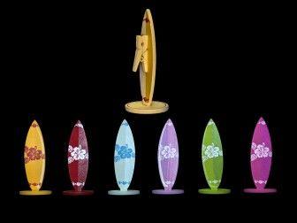 lot de 6 marque places planche de surf 7cm