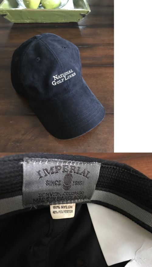 Bag Tags 173516  National Golf Links Of America Shinnecock Hills Ny Members Cap  Hat Brushed Black -  BUY IT NOW ONLY   59.95 on  eBay  national  links ... 1132810672f