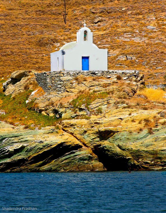 Chapel in Kea (Tzia)-Lighthouse of Kea Island-Tzia-Hellas-Greece-Sea-Summer-Travel