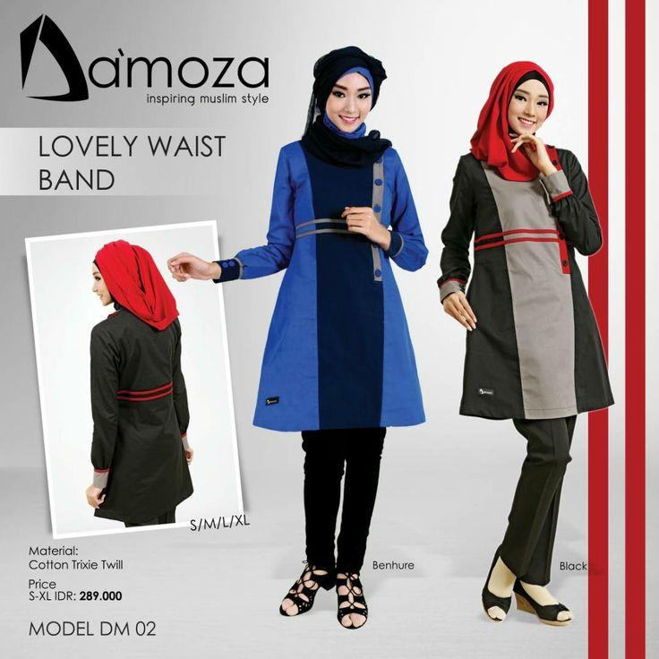 """New Model"" Tunik Damoza 02 Tunik Muslim Dewasa Persembahan Damoza dengan bahan Cotton Trixie Twill Tebal, halus, lembut dan adem, Tersedia 2 pilihan kombinasi warna:  1. Benhure 2. Black"
