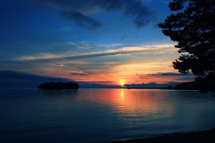 Sunset in Motala, Sweden