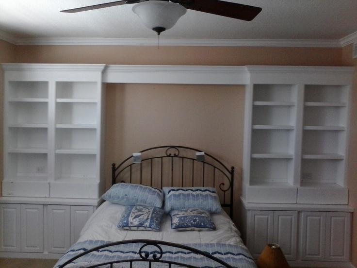 Master Bedroom Built-in Custom Bookshelves And Storage