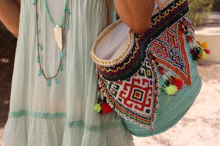 Boho. Love the bag too.