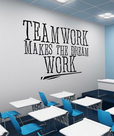 Vinyl Wall Decal Sticker Teamwork Dream Work #5453 | Stickerbrand wall art decals, wall graphics and wall murals.
