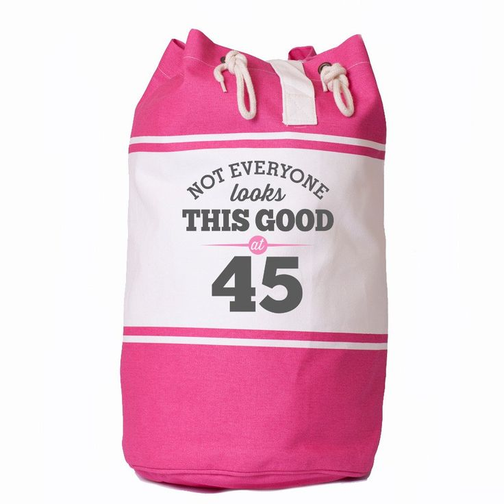 Not Everone Looks this good at 45, Birthday Bag, 45th Birthday, Gift, Keepsake, Funny Gift, Gift For Men, Gift For Women, Novelty Gift, Ladies Gifts, Female Birthday Gift, Male Birthday Gift Idea, Quadra Canvas Duffle Bag