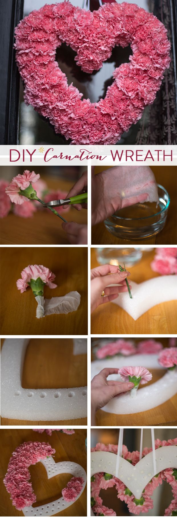 DIY // Valentine's Carnation Wreath