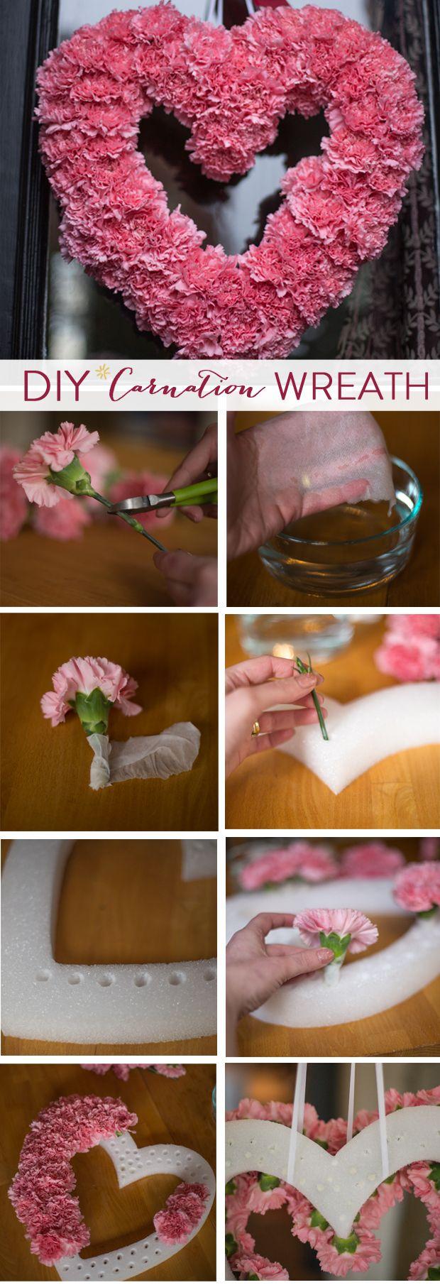 DIY // Valentine's Carnation Wreath
