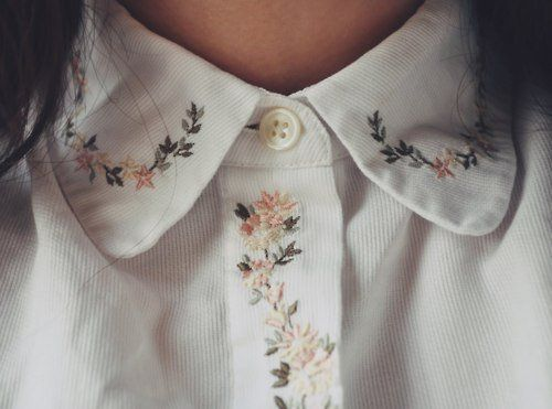 photography pretty girl cute tumblr fashion beautiful photo white hippie style hipster vintage boho indie flower shirt flowers Clothes nice bohemian button clothing Thing collar colar styish