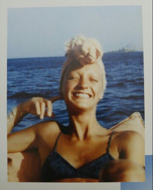 Loulou de la Falaise on holiday in Patmos, Greece, 1972