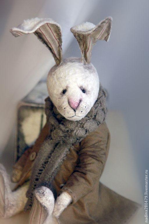 Купить Кроль Тедди Брюскон - белый, кролик, кролик игрушка, тедди, тедди зайка