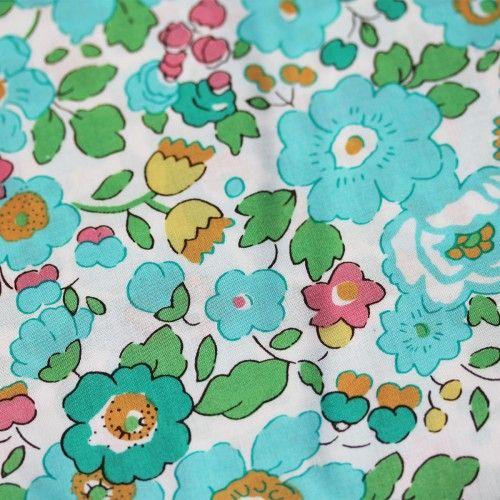 Liberty Betsy Green Tana Lawn Fabric